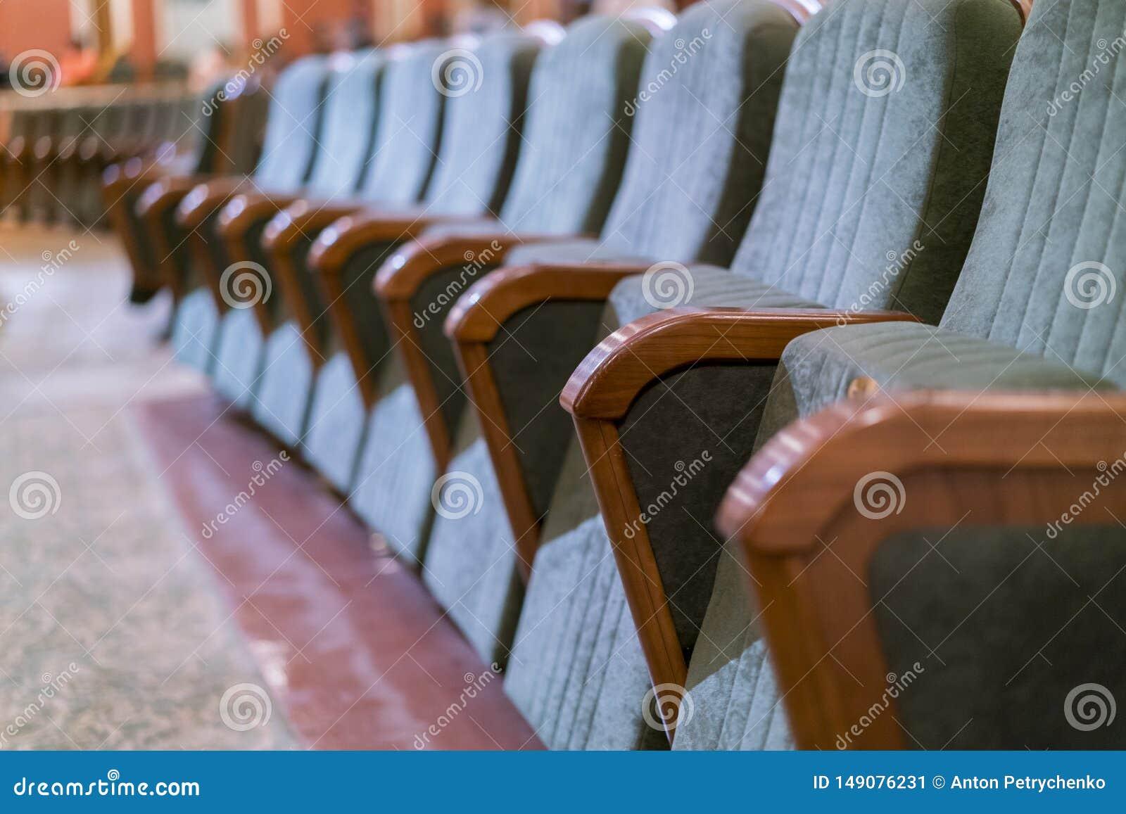 Театр кресла Классические места театра глубоко