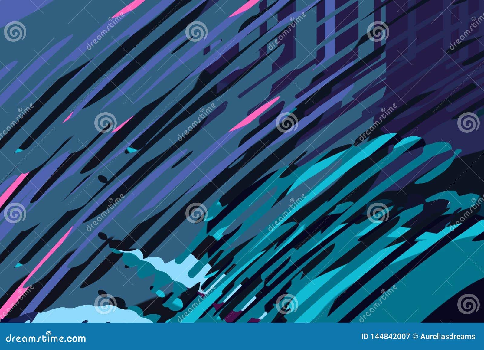 Абстрактная современная предпосылка Творческие красочные формы и формы r Текстура голубых, зеленого цвета и пинка яркая графическ
