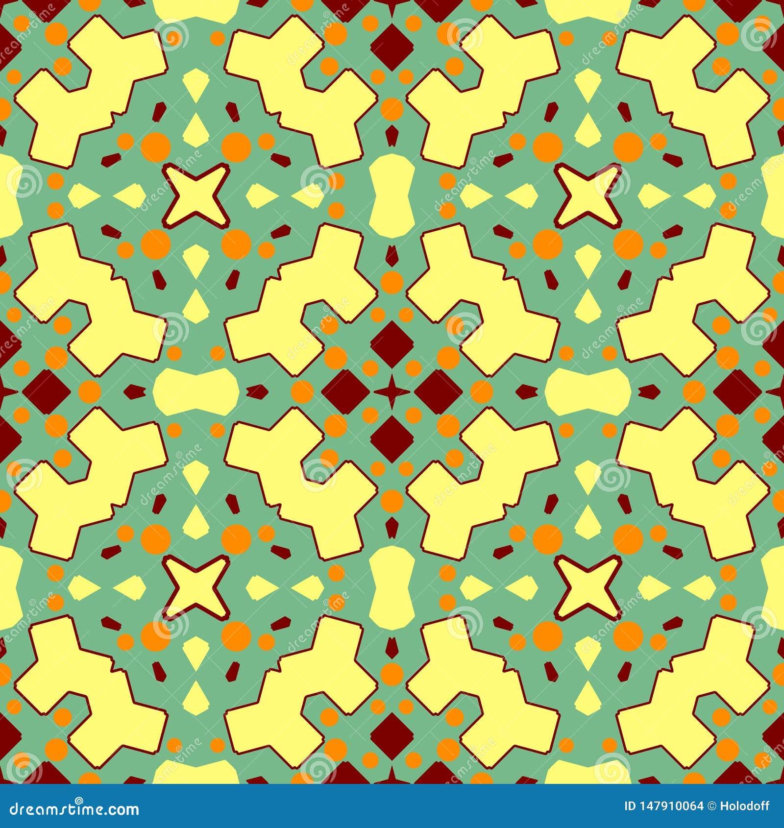 Текстура керамической плитки Шикарная безшовная картина заплатки от красочных орнаментов для керамических плиток