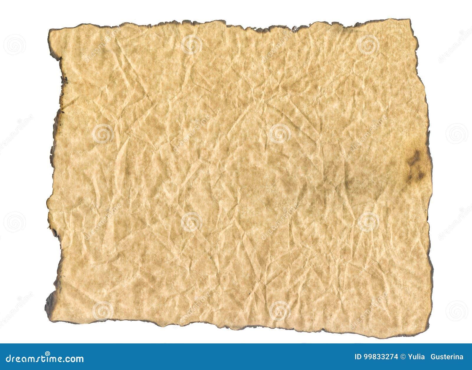 Текстура, который сгорели бумаги сгорели бумага краев старая