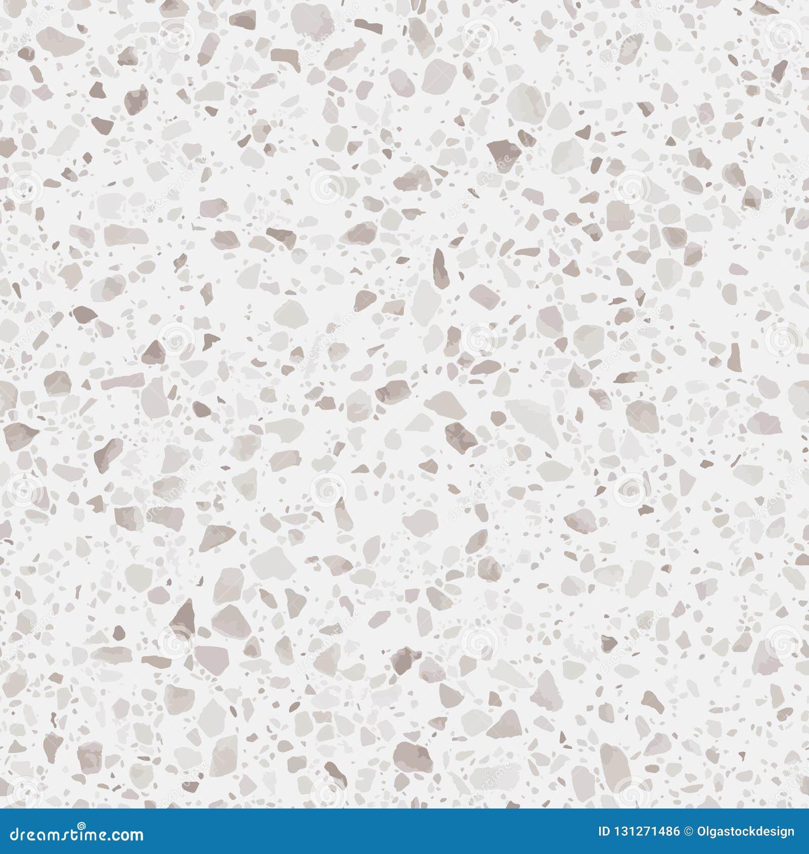 Текстура настила Terrazzo Реалистическая картина вектора пола мозаики с естественными камнями, гранита, мрамора, кварца, бетона