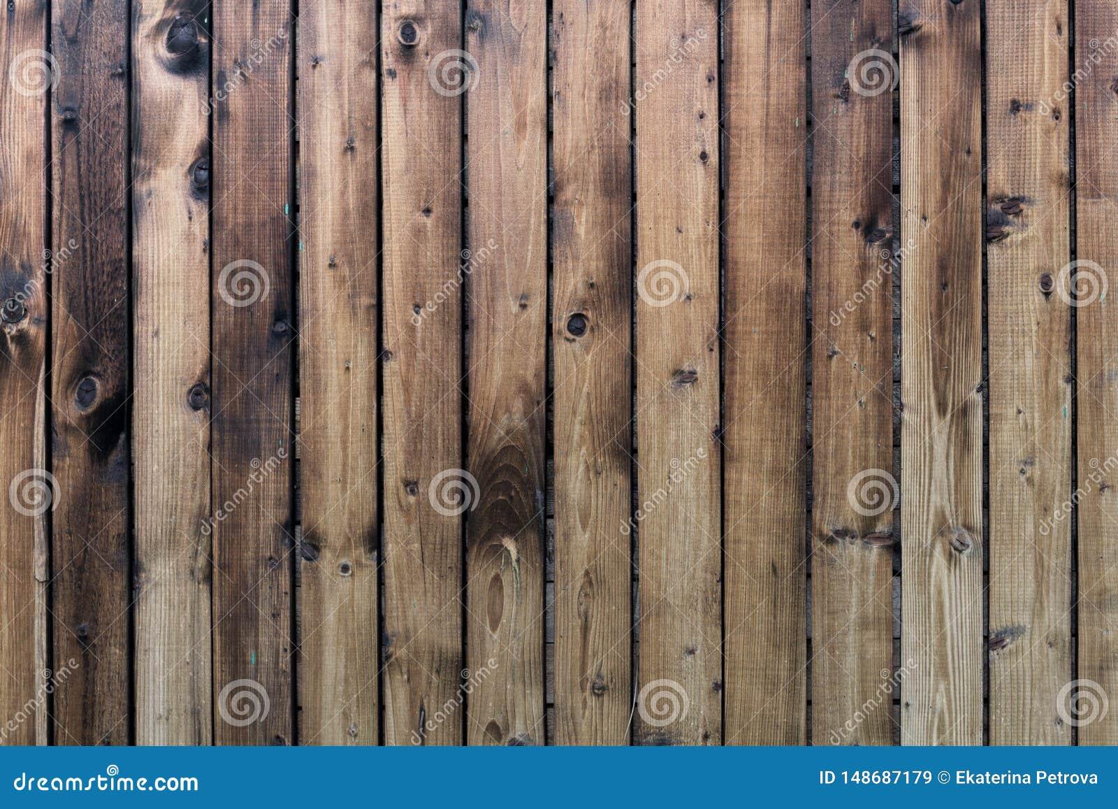 Текстура пожелтетых деревянных планок Деревянная вертикальная загородка желтых доск
