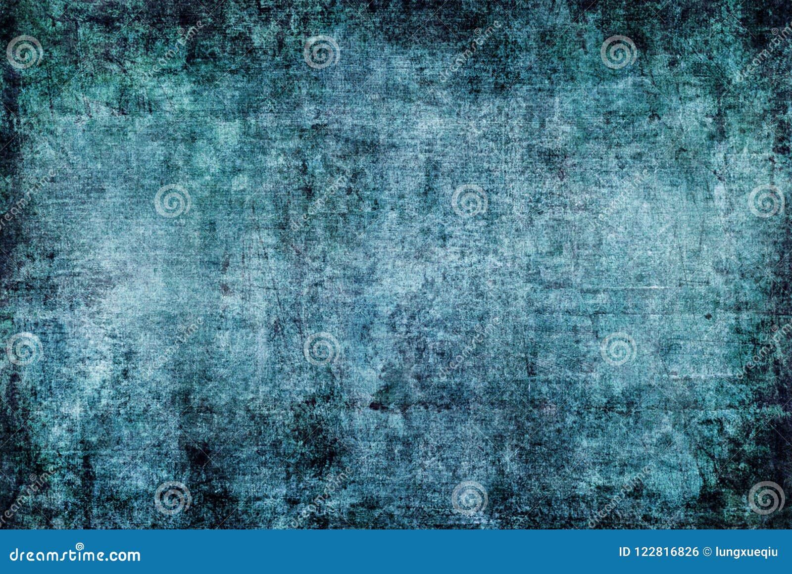 Текстура спада темного абстрактного Grunge голубого зеленого цвета картины ржавая передернутая старая для обоев предпосылки осени