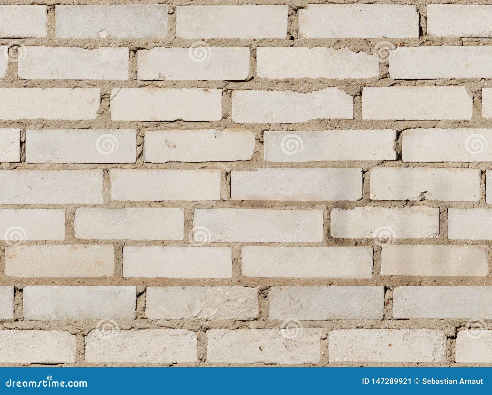 Текстура старой белой кирпичной стены