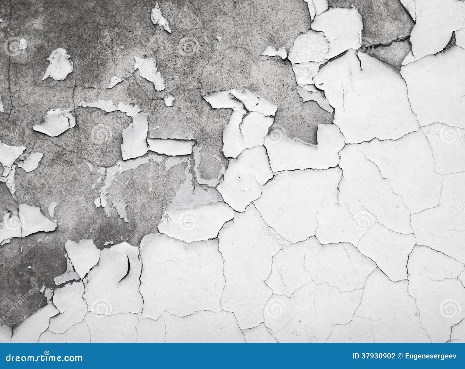 Текстура треснутой краски на бетонной стене