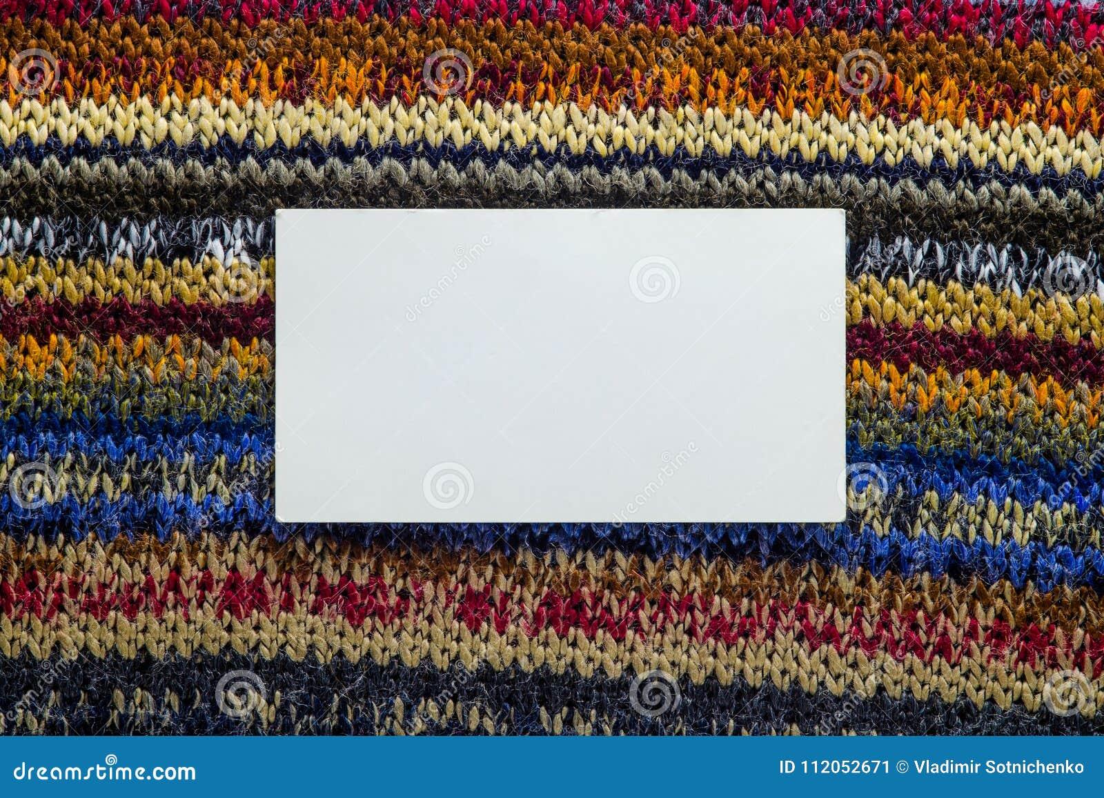 Текстура Knit с белым пустым пространством