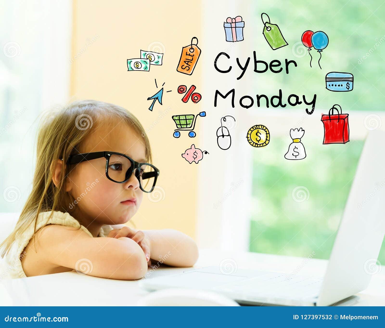 Текст понедельника кибер с маленькой девочкой
