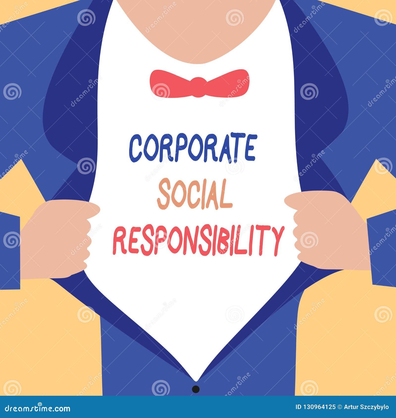 Текст почерка писать корпоративную социальную ответственность Концепция знача внутренние корпоративные политику и стратегию этик