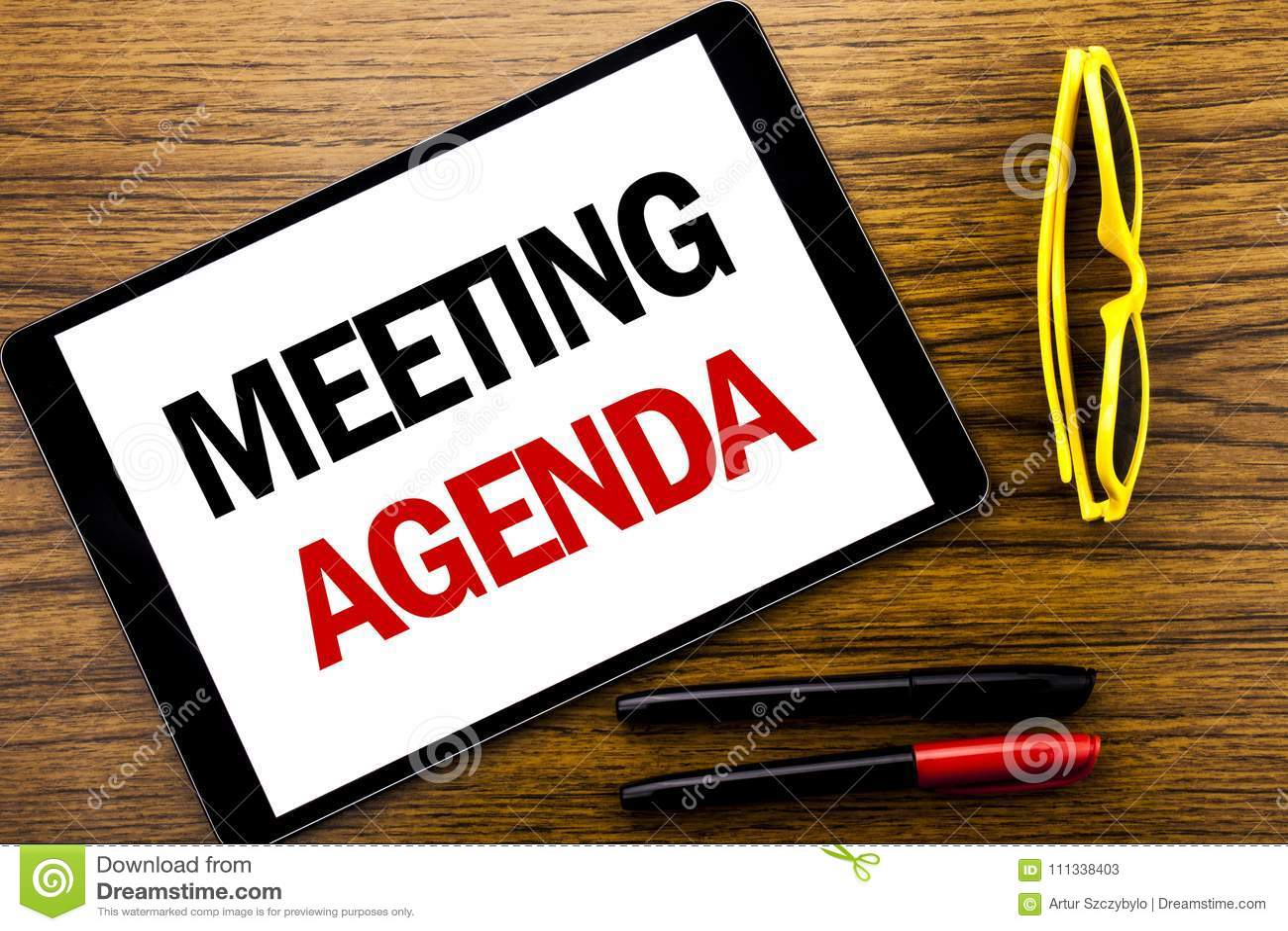 Текст сочинительства показывая повестку дня заседания Концепция дела для плана план-графика дела написанного на компьтер-книжке т