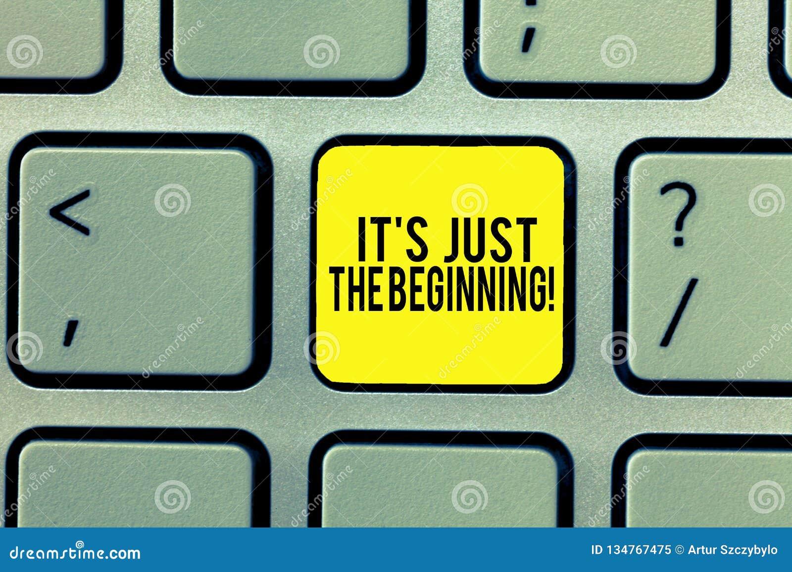 Текст сочинительства слова s как раз начало Концепция дела для только начинать развивать подготавливающ клавиатуру целей