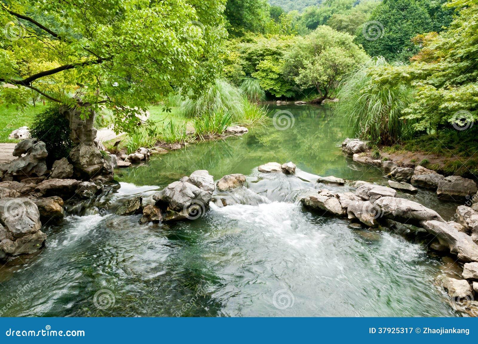 текущая вода потока