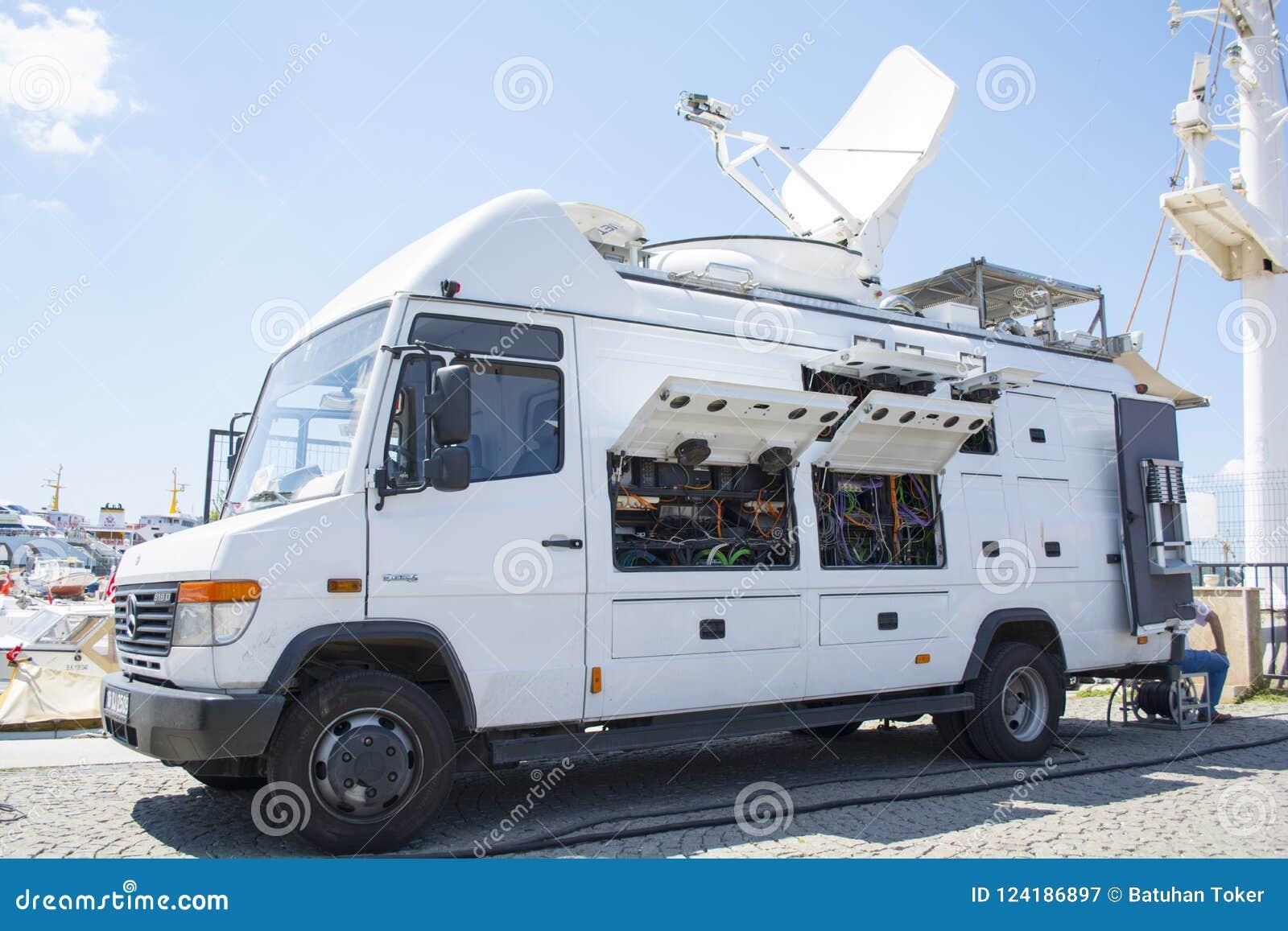 Тележка мировых новостей TRT - сеть телевизионного вещания - новости Van передачи