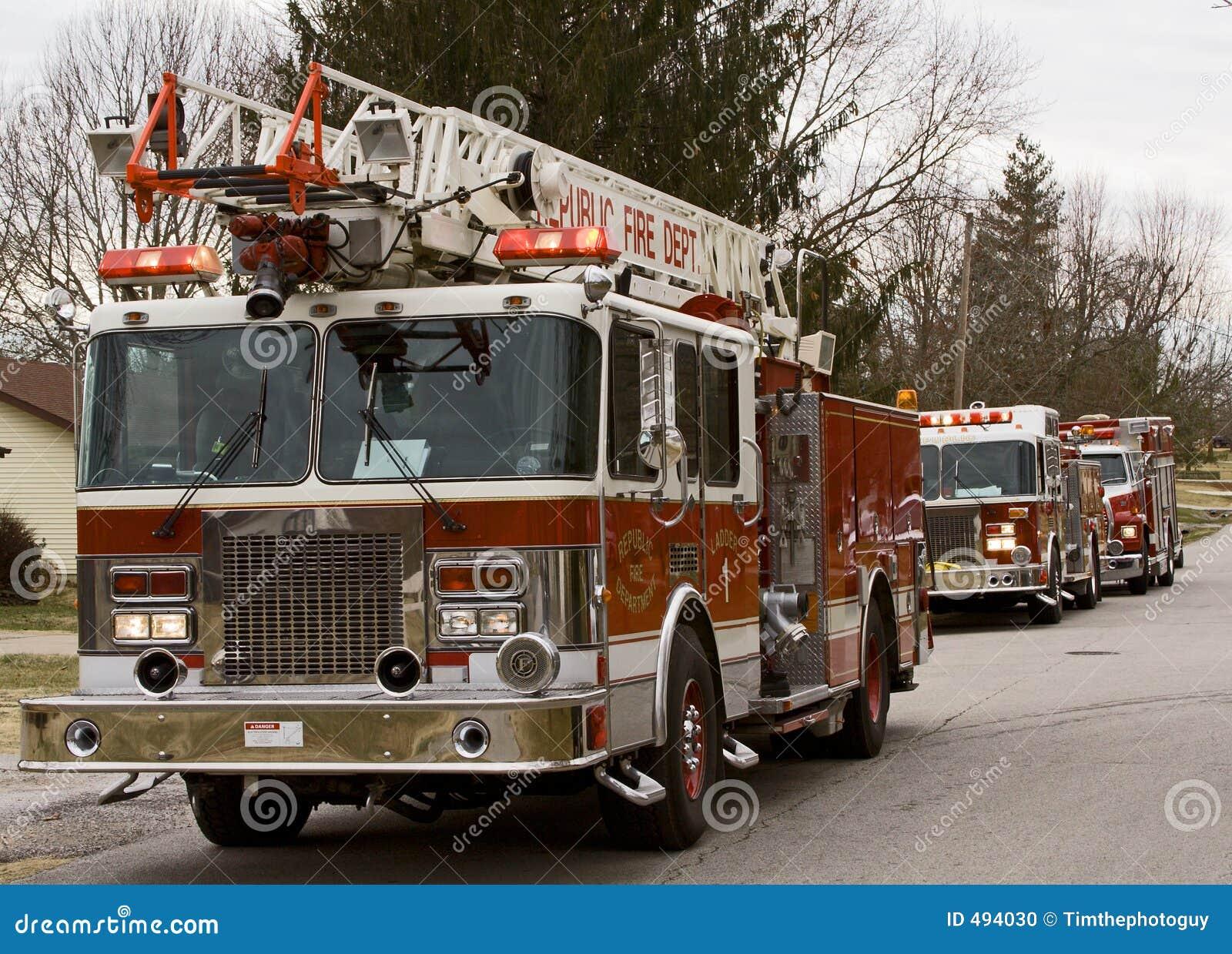 тележки места пожара