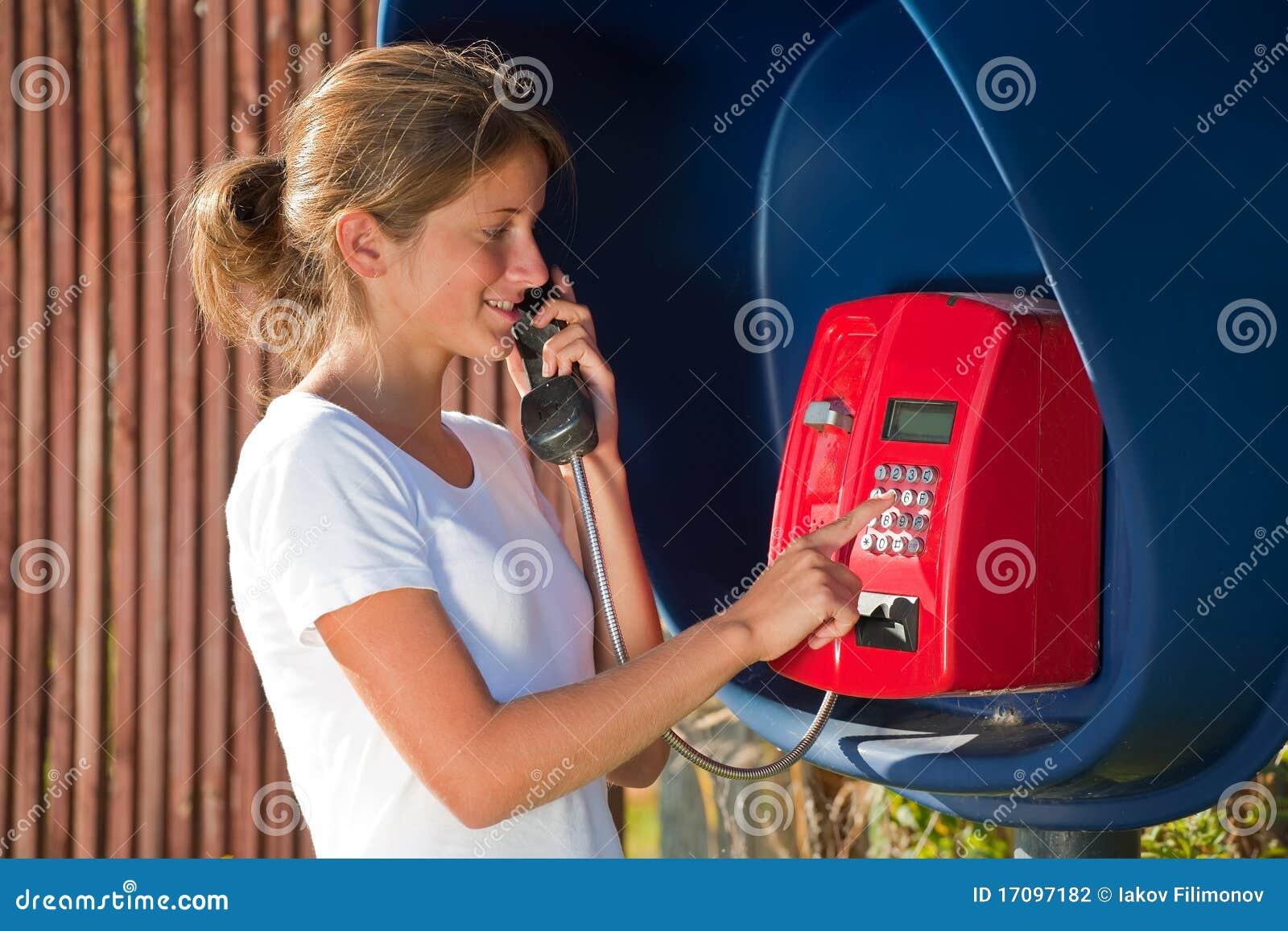 телефон девушки коробки напольный