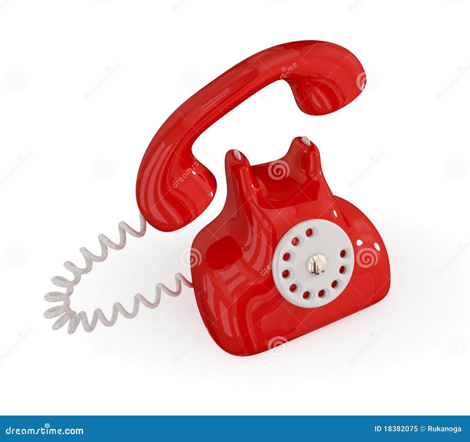 телефон шаржа ретро