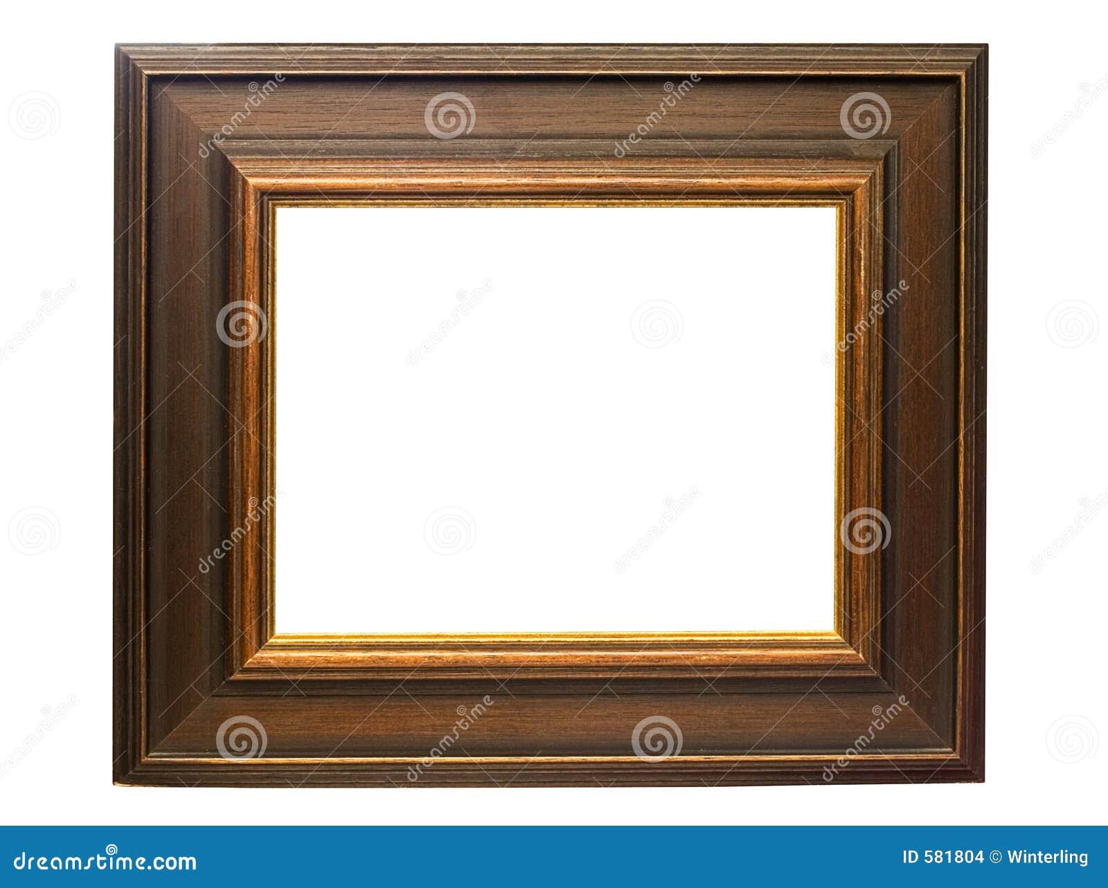 темное изображение w путя рамки деревянное
