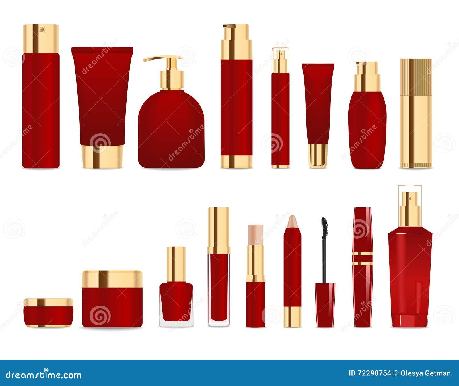 Download Темный - красный цвет и трубки золота Иллюстрация вектора - иллюстрации насчитывающей лосьон, предмет: 72298754