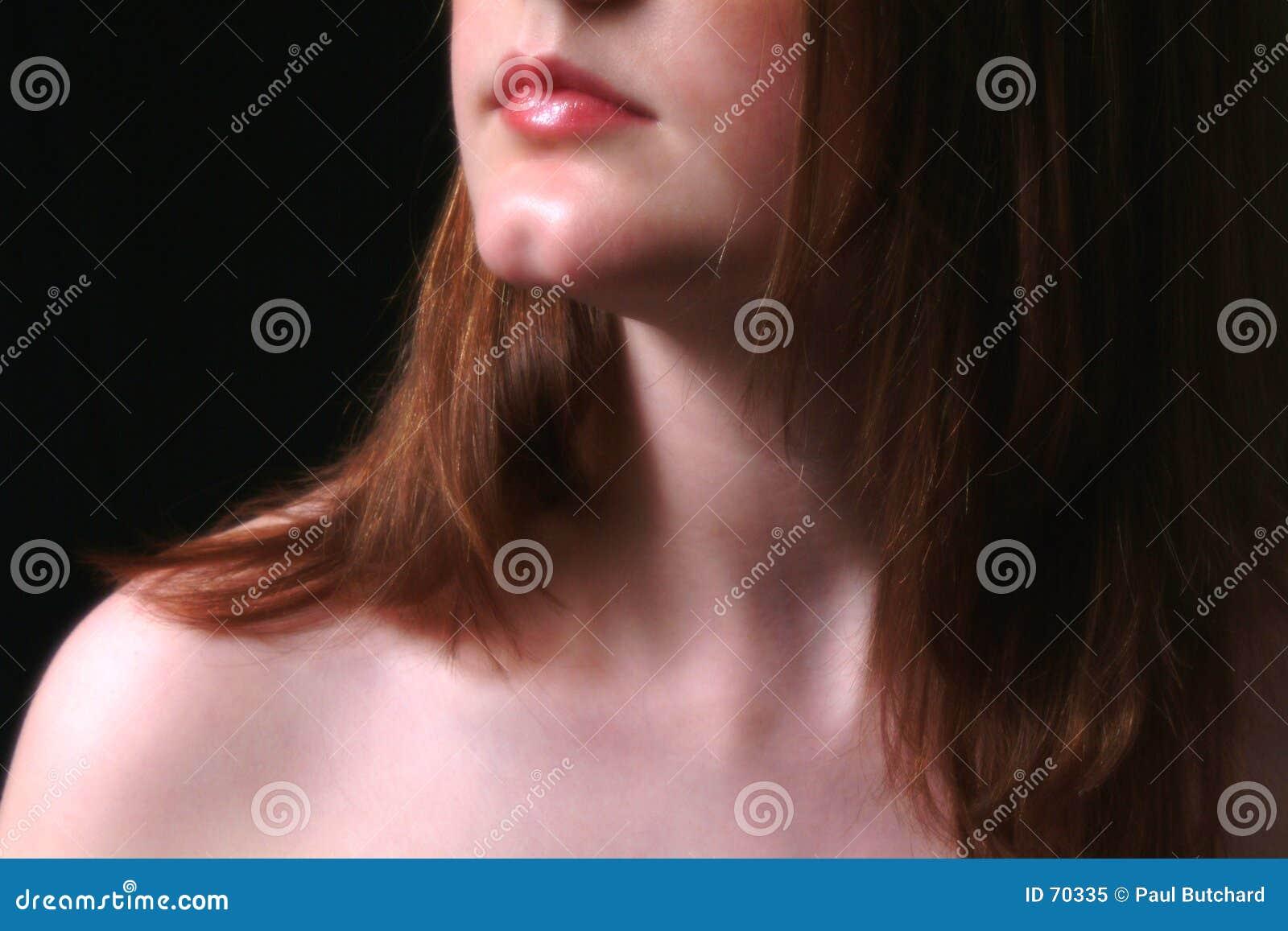 тень шеи рта