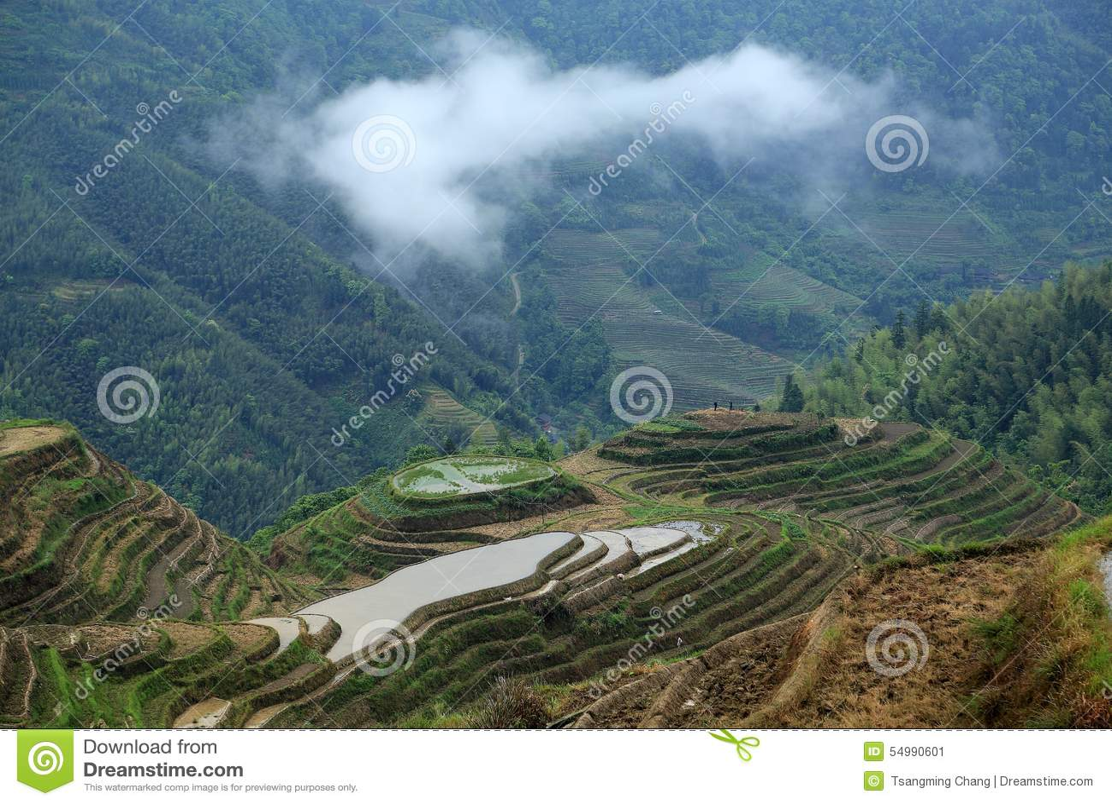 Терраса Longji, guangxi, фарфор