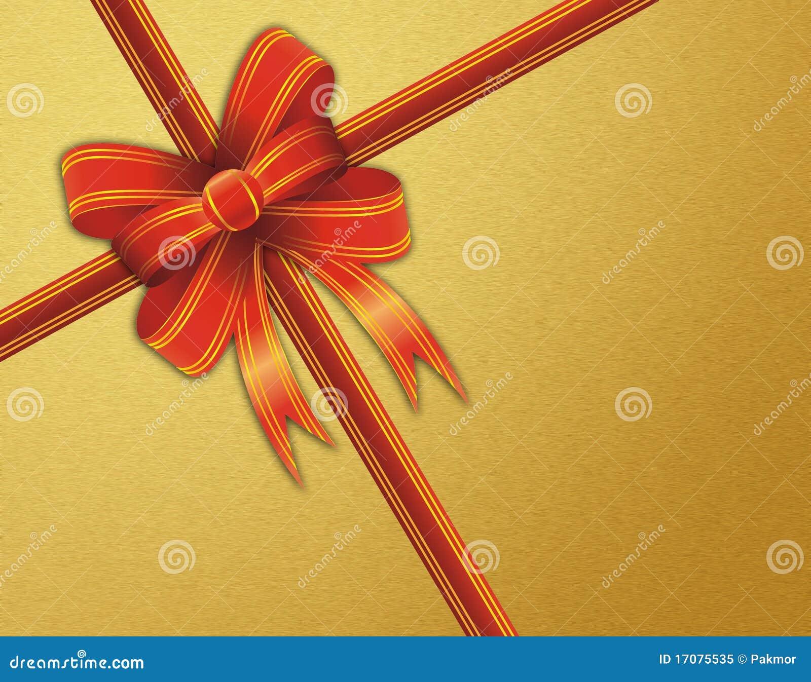 тесемка красного цвета подарка рождества