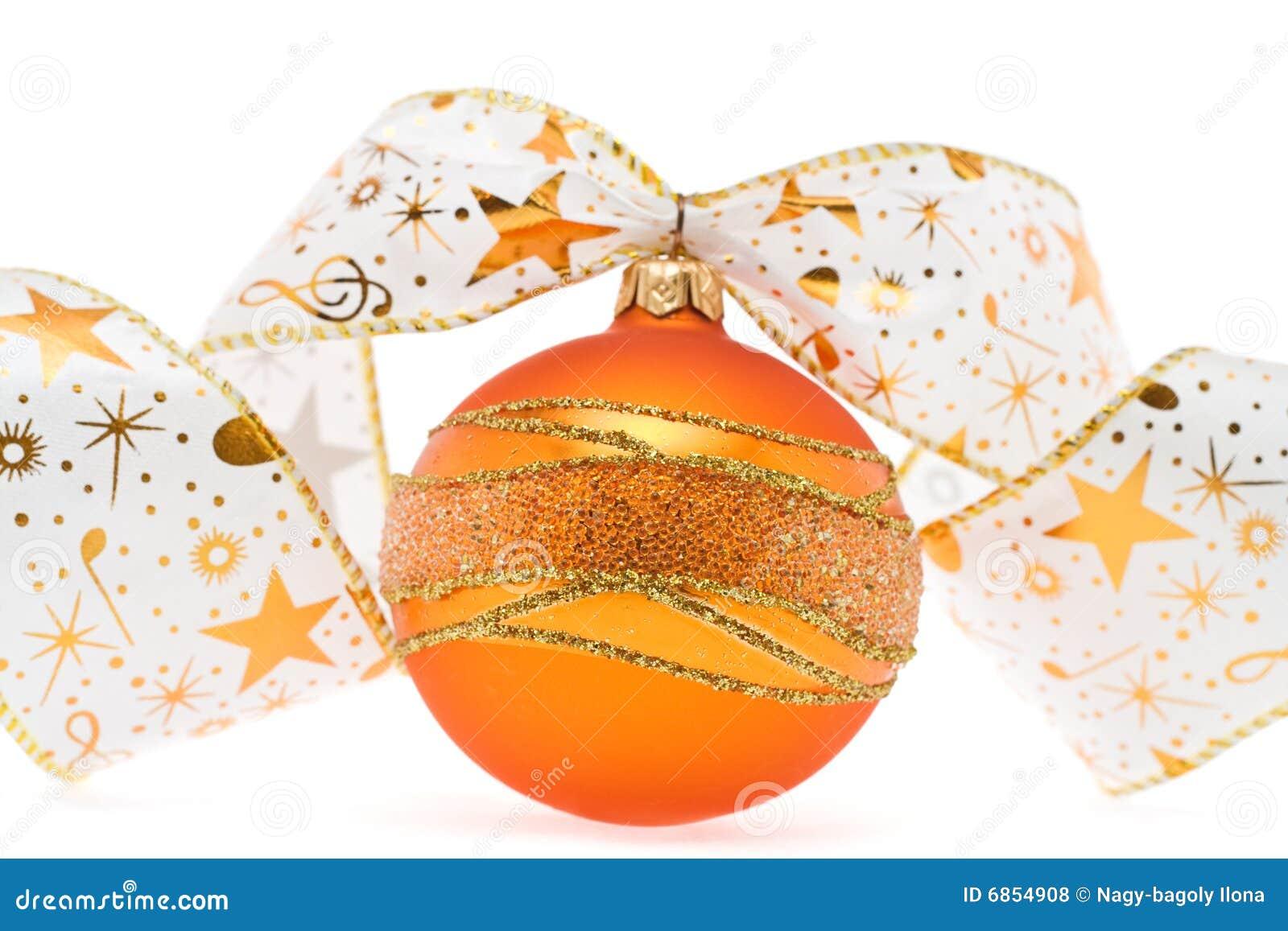 тесемка рождества шарика декоративная померанцовая