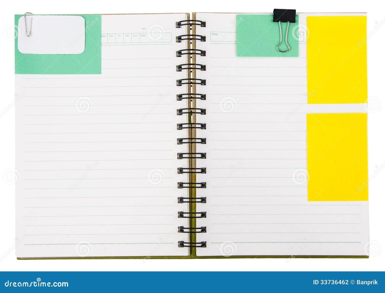 Тетрадь с notepaper
