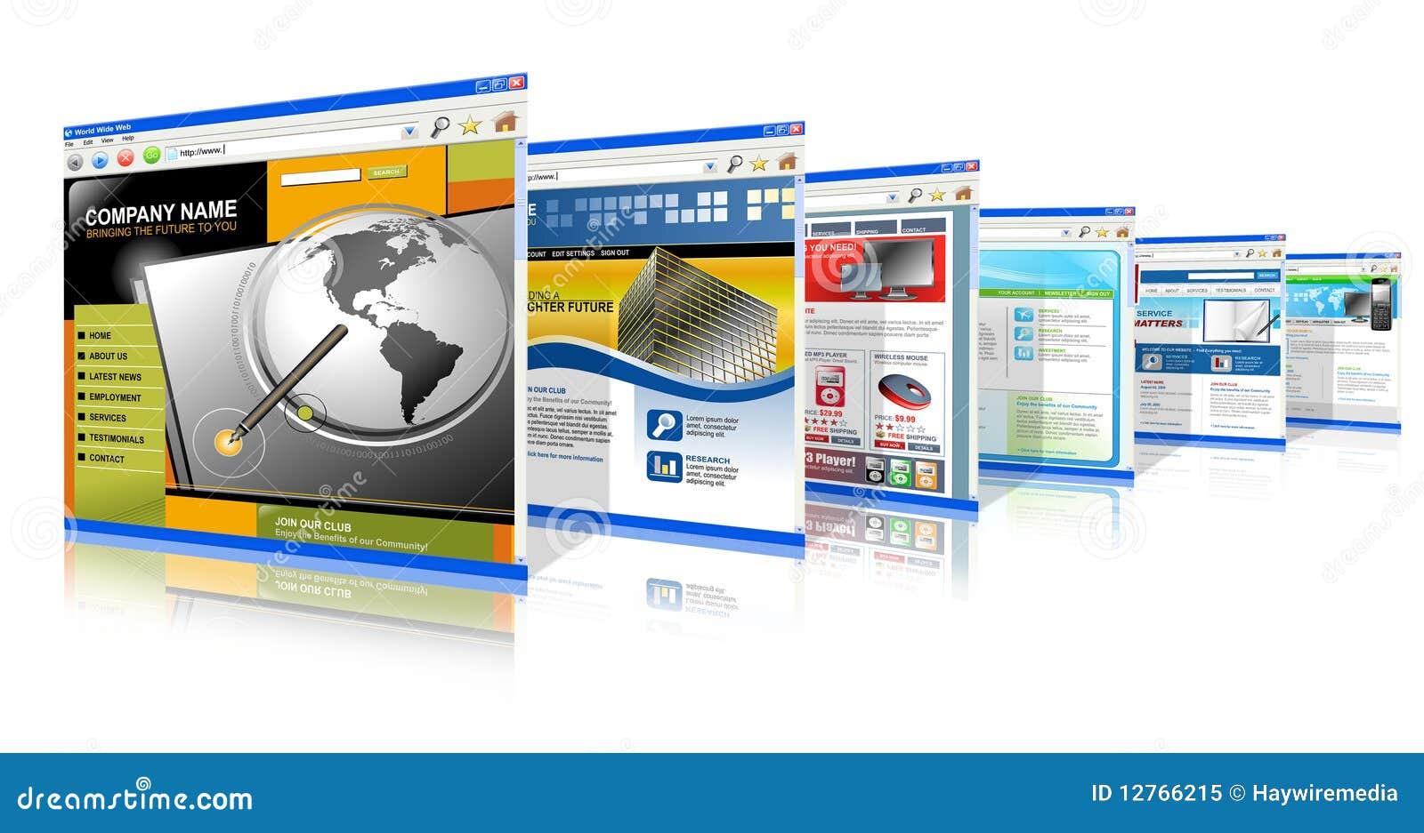 технология интернета стоящая вверх по вебсайтам