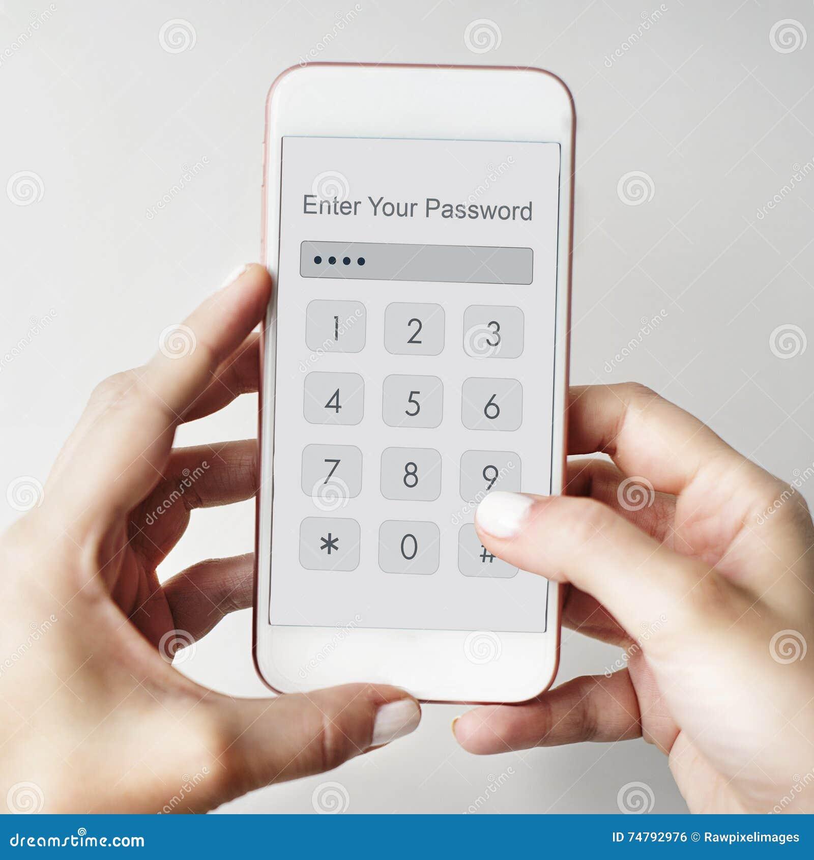 Технология вписывает концепцию графика безопасностью пароля
