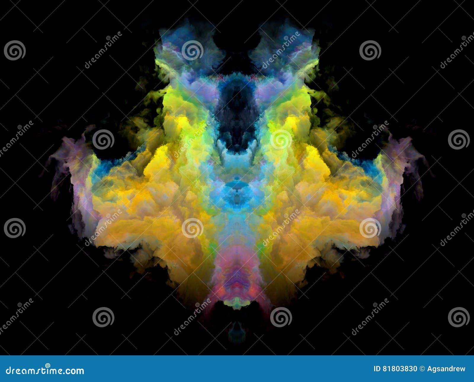Телевизионная испытательная таблица Rorschach цвета