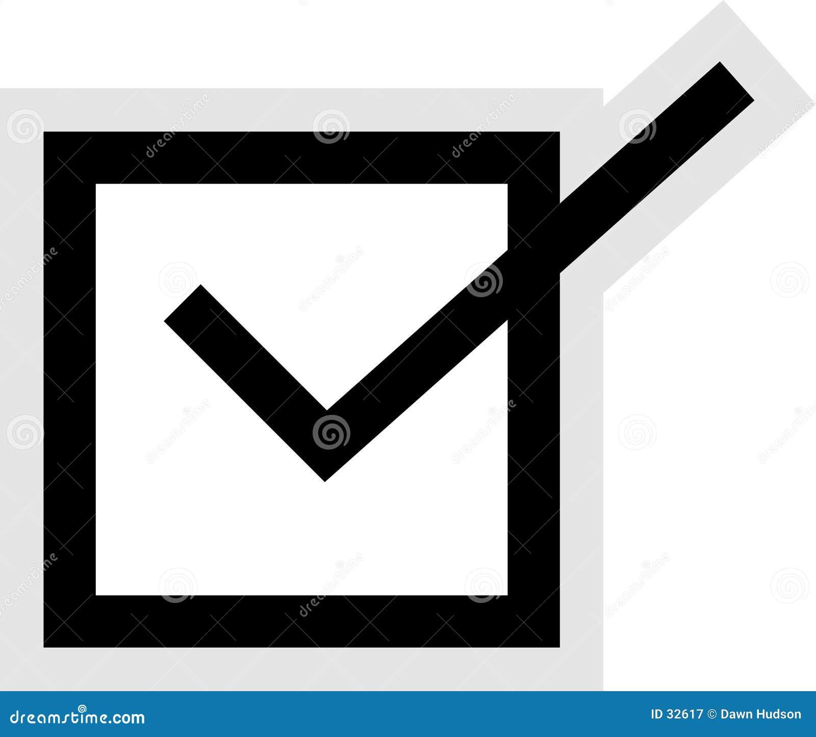 тикание иконы коробки