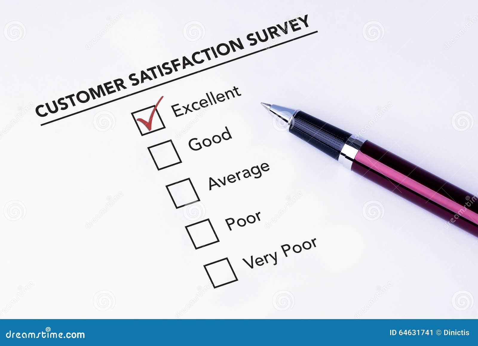 Тикание помещенное в превосходном флажке на satisfact обслуживания клиента