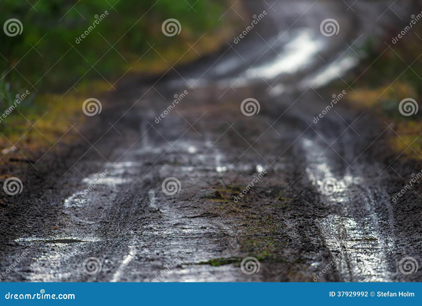 Тинная сельская грязная улица