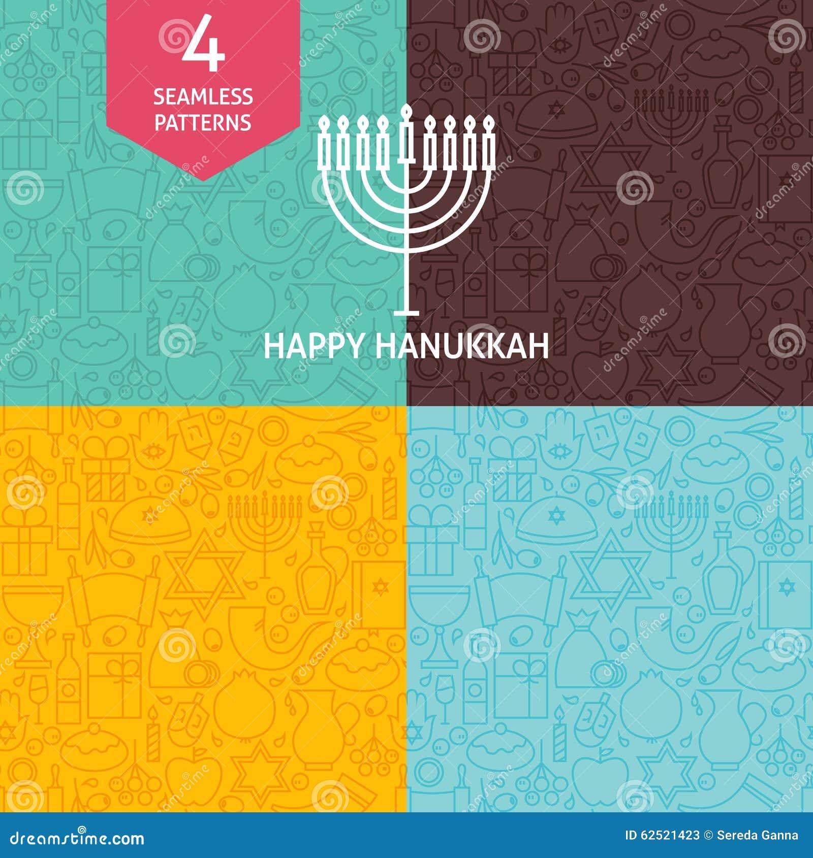 Тонкая линия счастливые установленные картины праздника Хануки