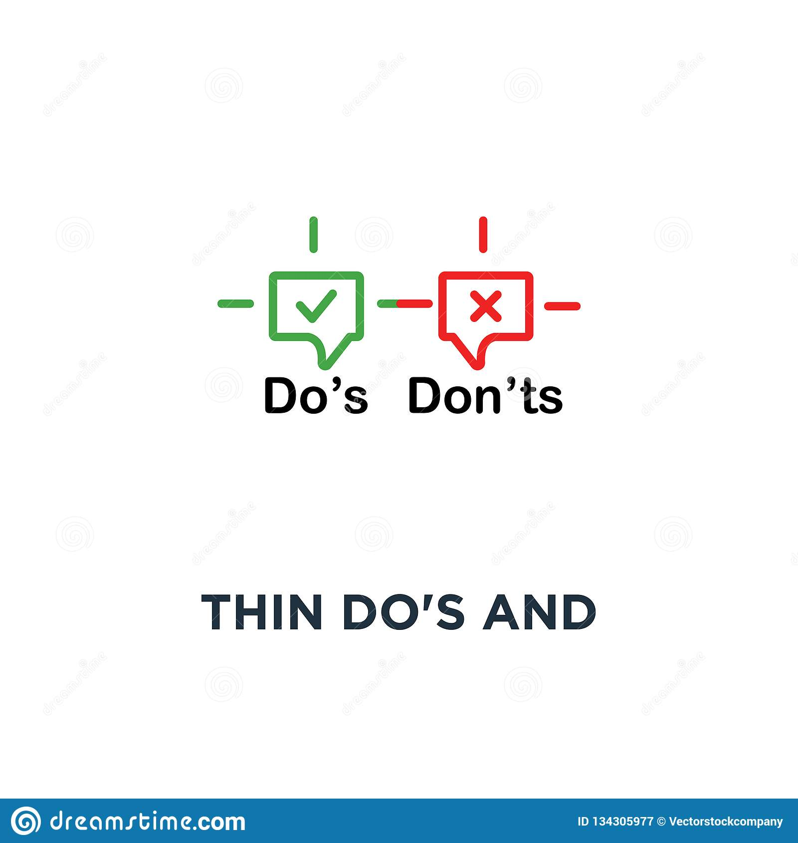 """тонкие do и надевают """"ts клокочут значок, символ правил поведения для людей как терпеть неудачу или тенденция неправильной концеп"""