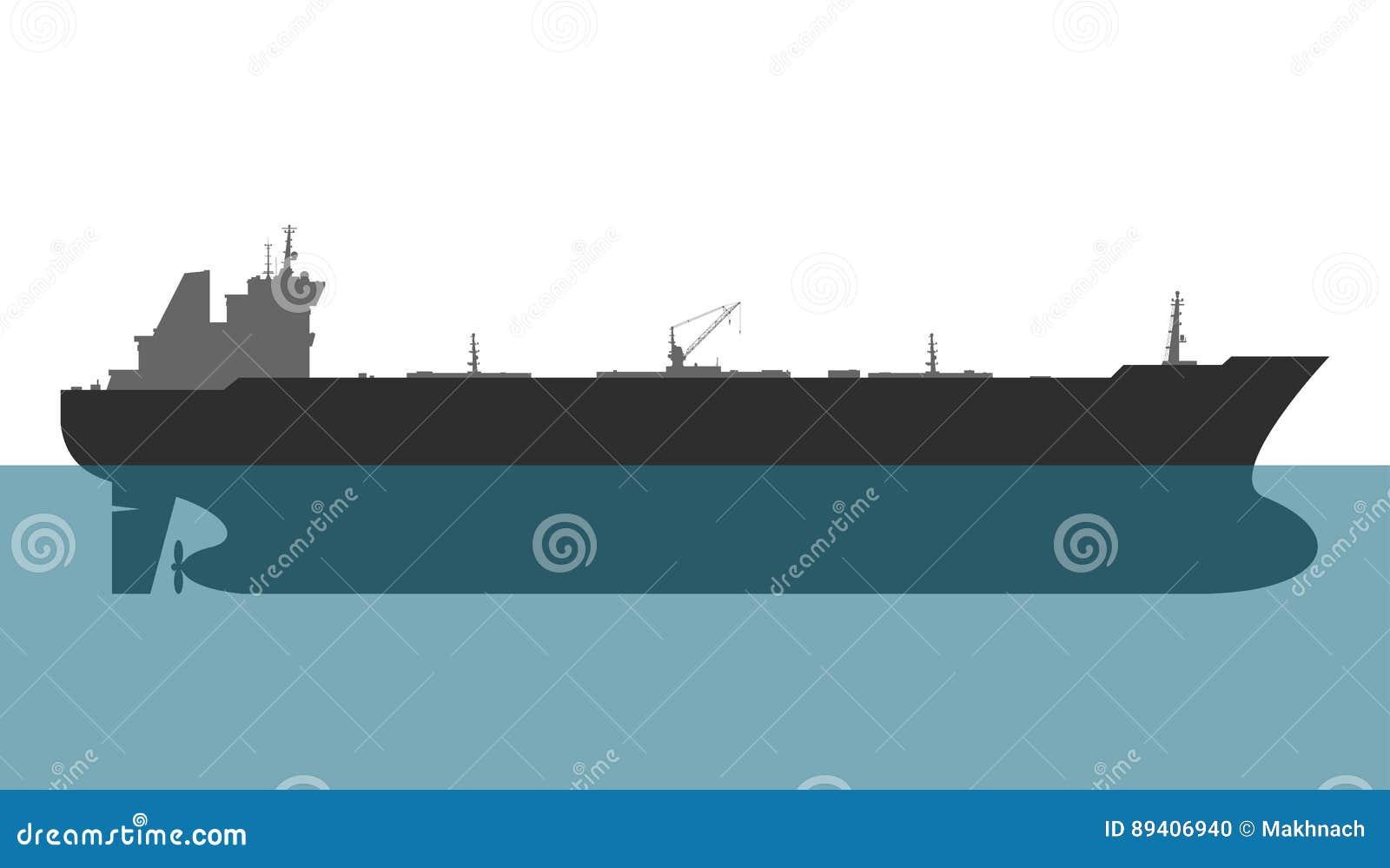 топливозаправщик корабля масла Германии kiel груза канала вектор