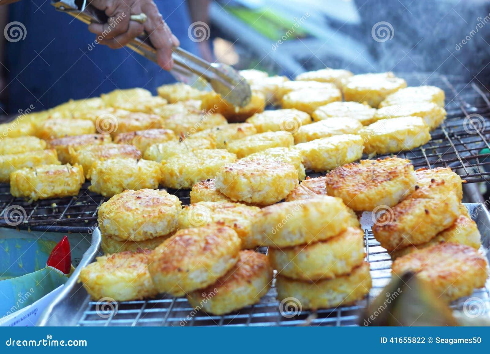 Торты риса в Азии - еде Азии