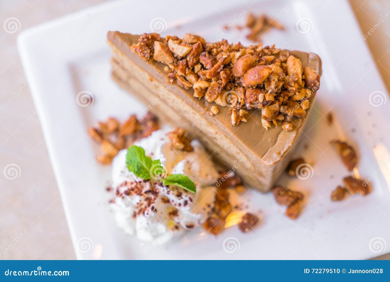 Download Торт кофе стоковое фото. изображение насчитывающей вкусно - 72279510
