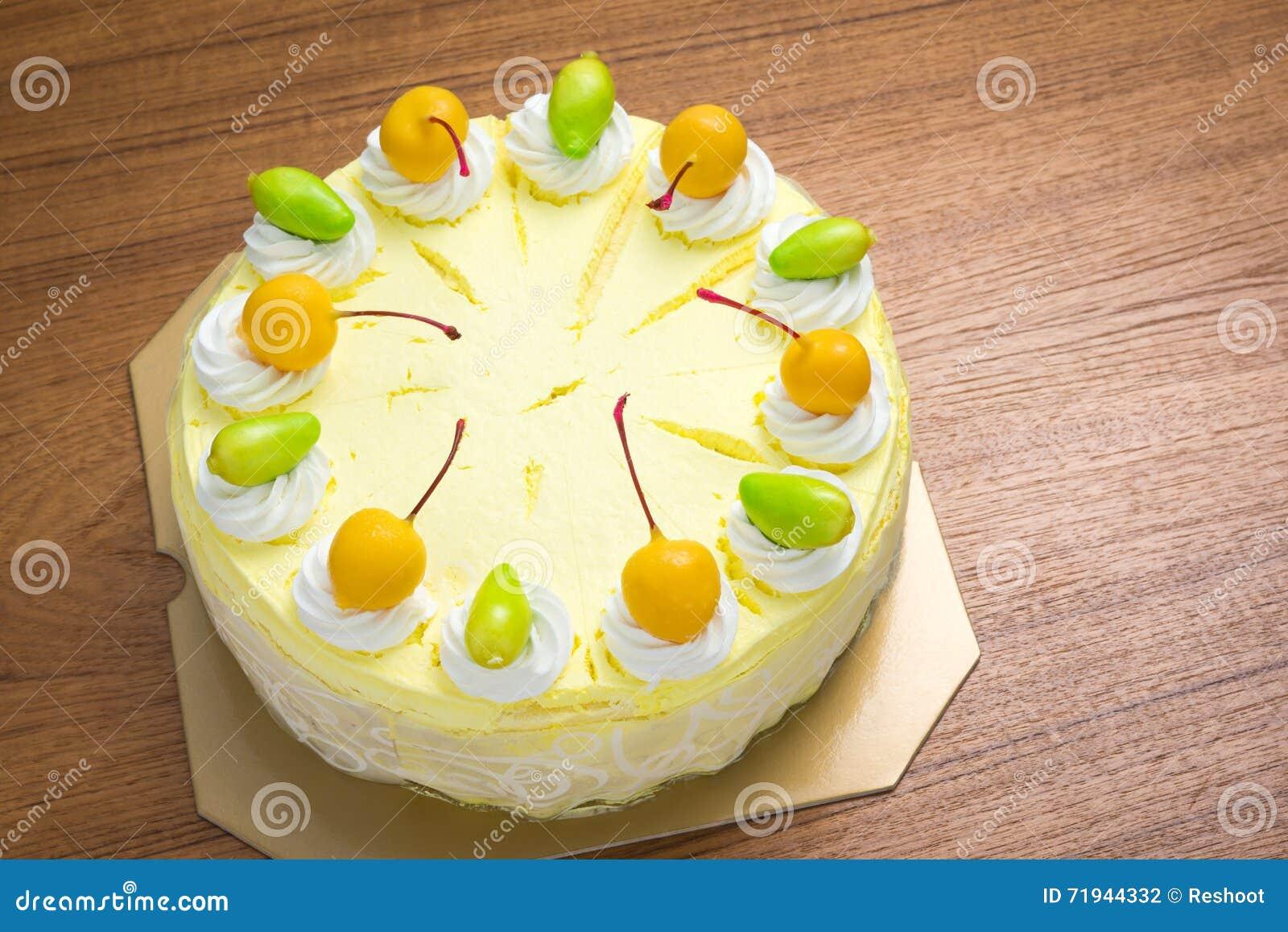 Торт мороженого манго