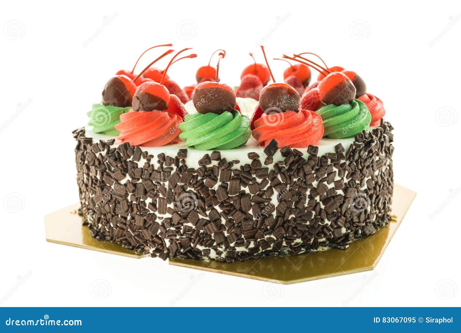 Торт мороженого с темой рождества и веселое на верхней части