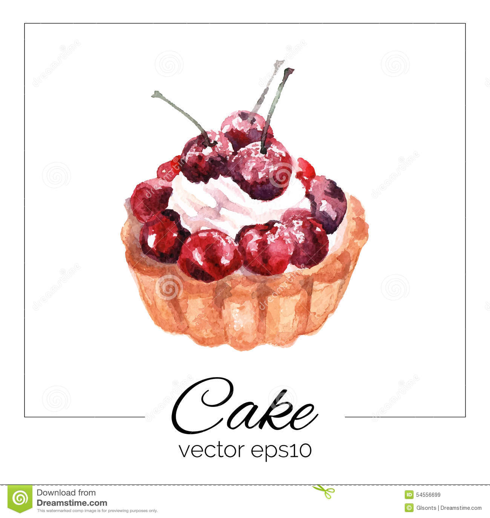 тортик нарисованный картинки