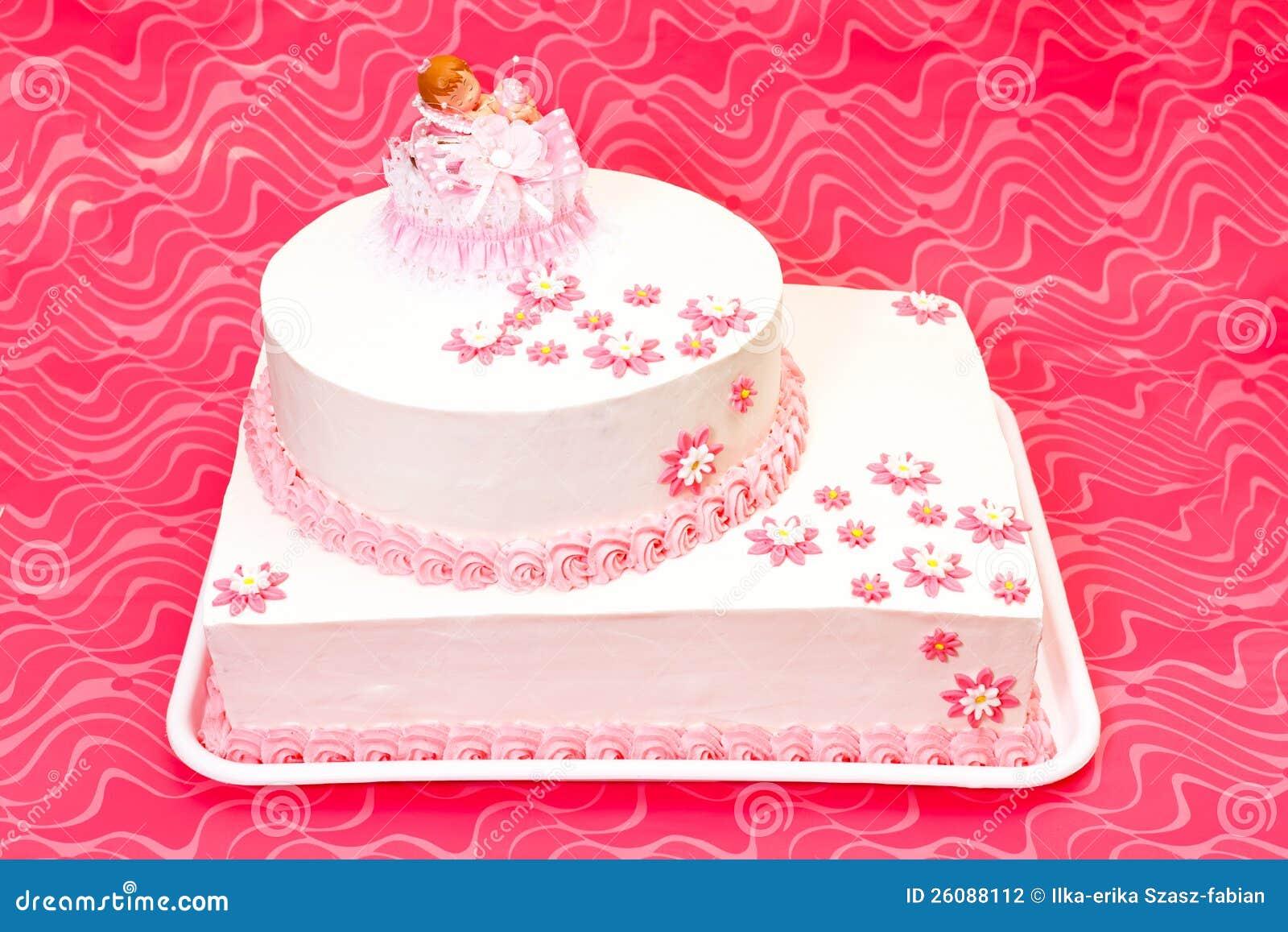 Торт Christening для девушки
