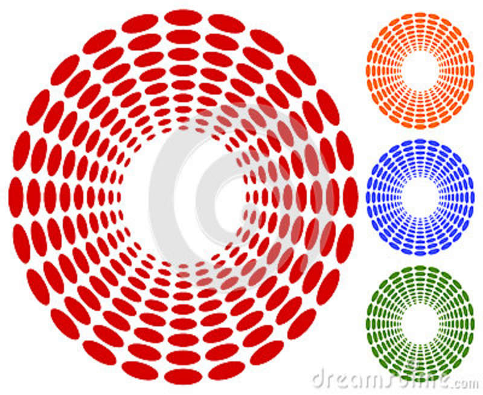 Точки, мотив кругов круговой, элемент Излучающ, радиальные точки