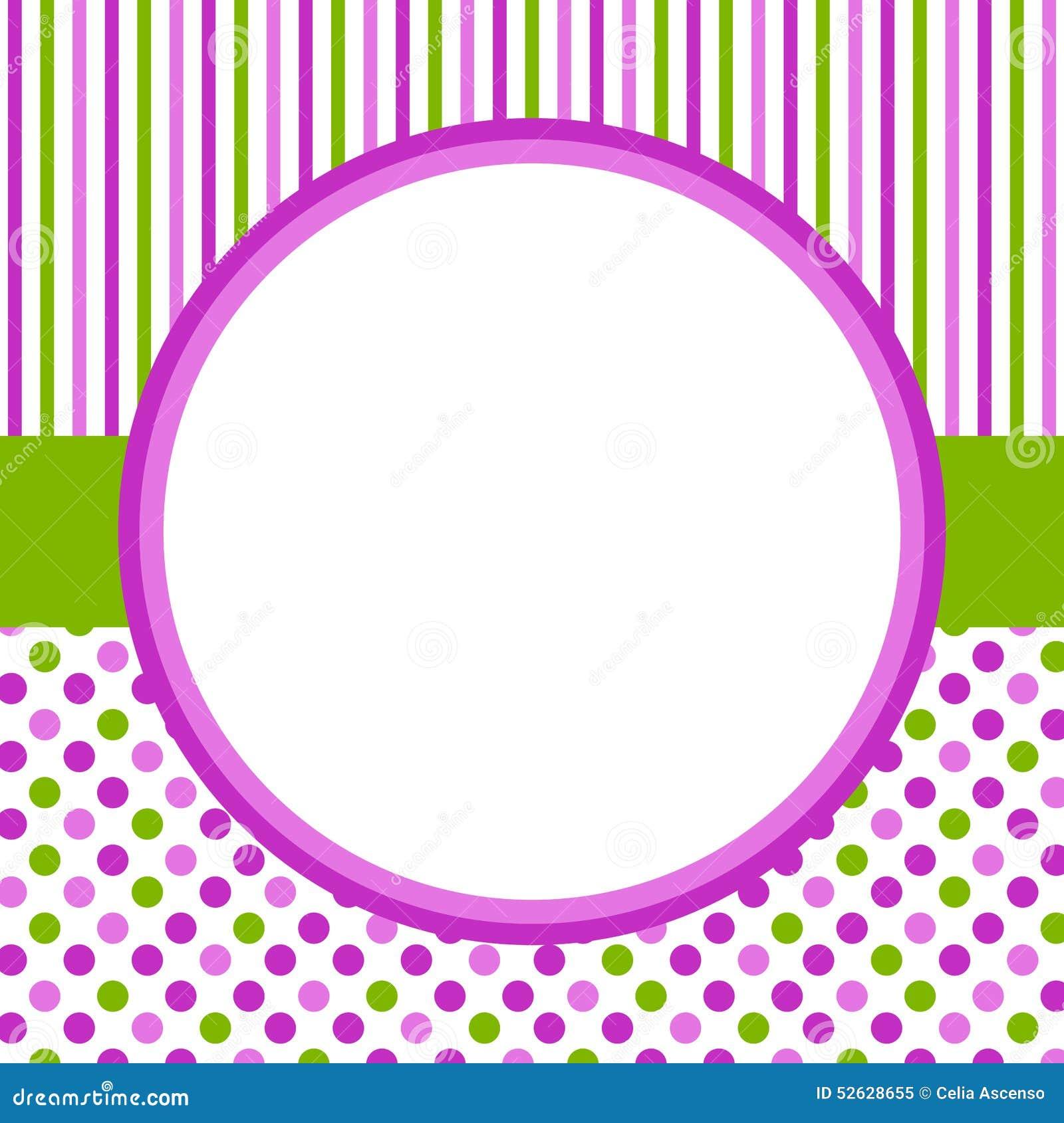 Точки польки и рамка границы нашивок circlular