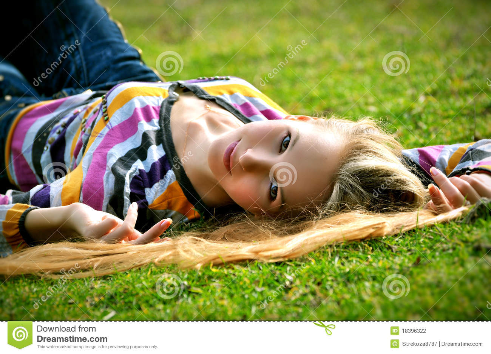 трава девушки