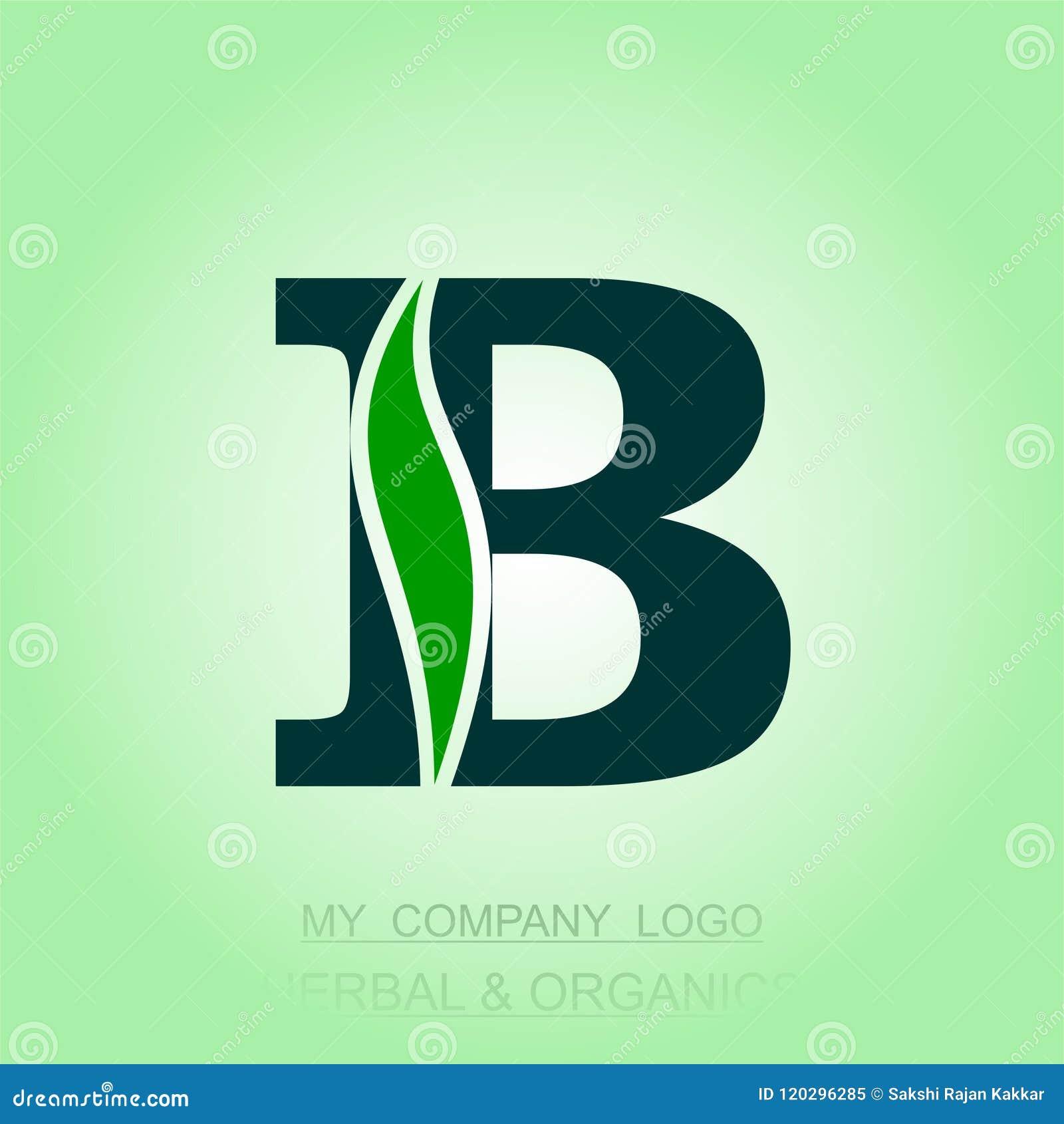 Травяной и органический алфавитно конструированный логотип и иллюстрация компьютера