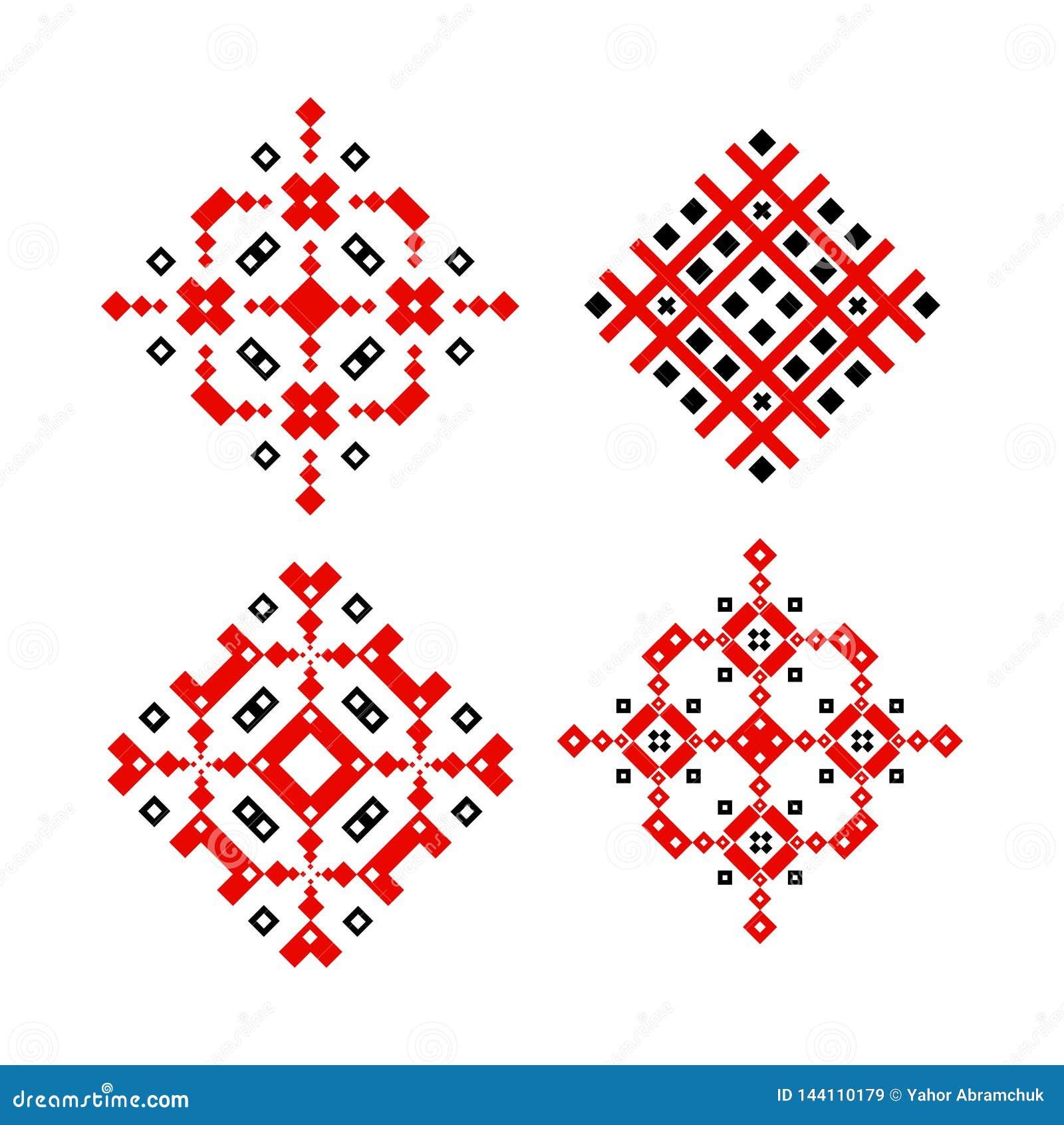 Традиционное фольклорного дизайна вектора орнамента этническое