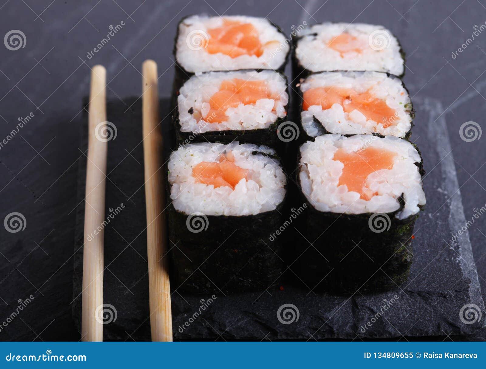 Традиционный японский конец еды вверх