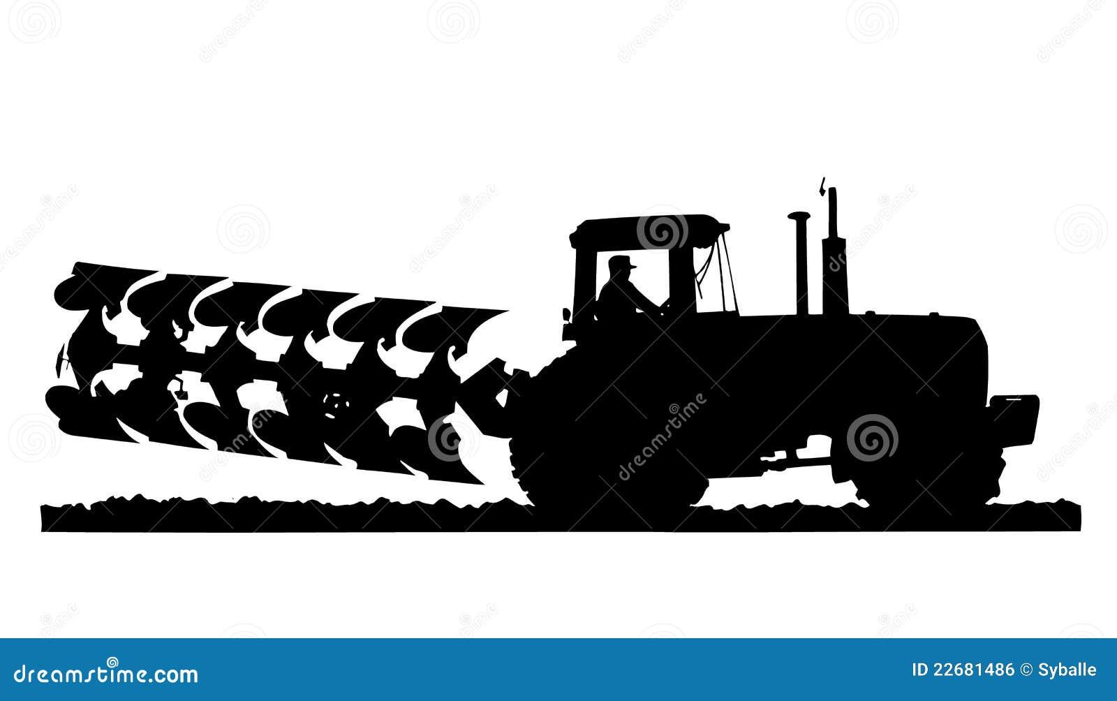 трактор силуэта