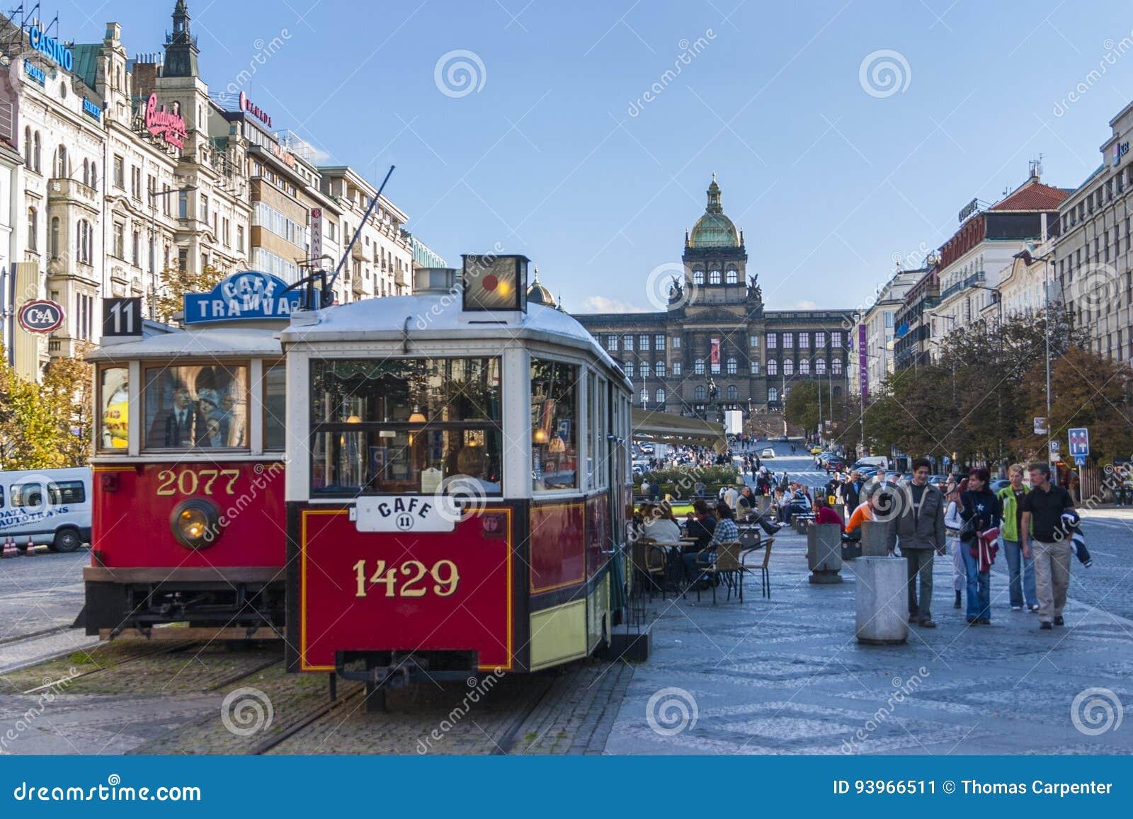 Трамваи в Праге