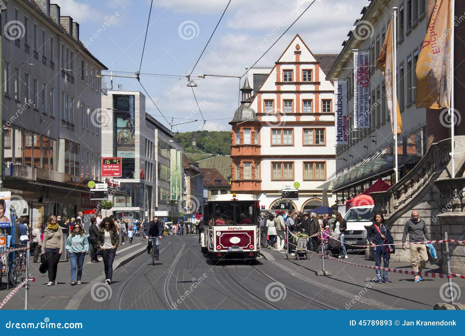 Трамвай в Wurzburg, Германии